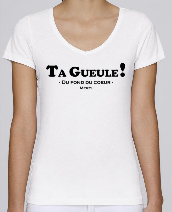 T-shirt Femme Col V Stella Chooses Ta geule ! par tunetoo