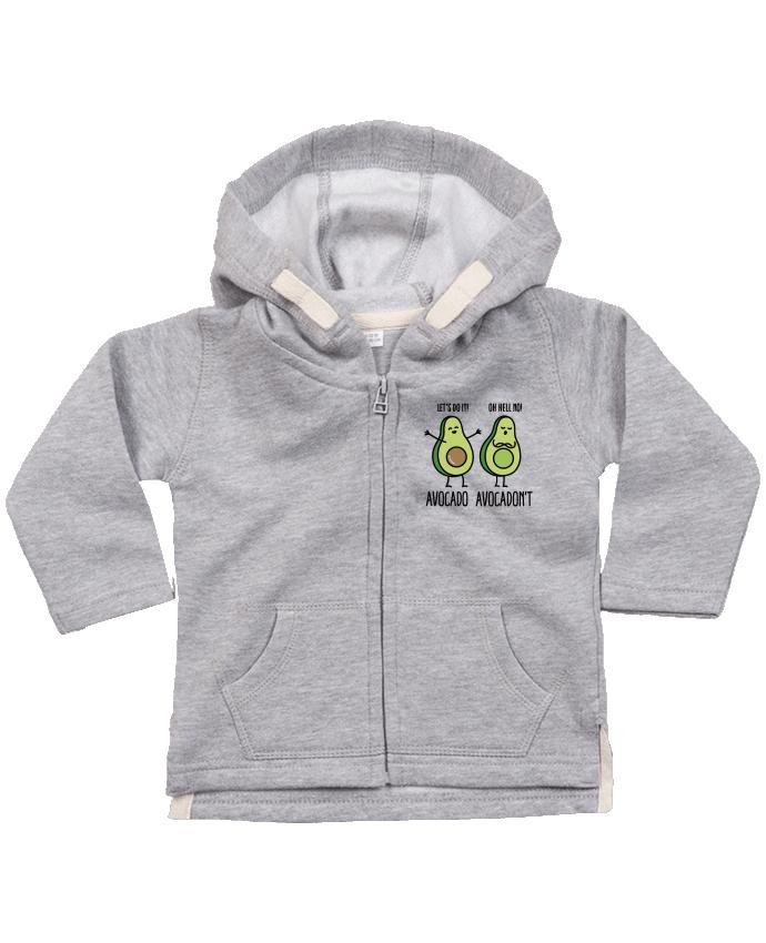 Sweat à capuche bébé zippé Avocado avocadont par LaundryFactory
