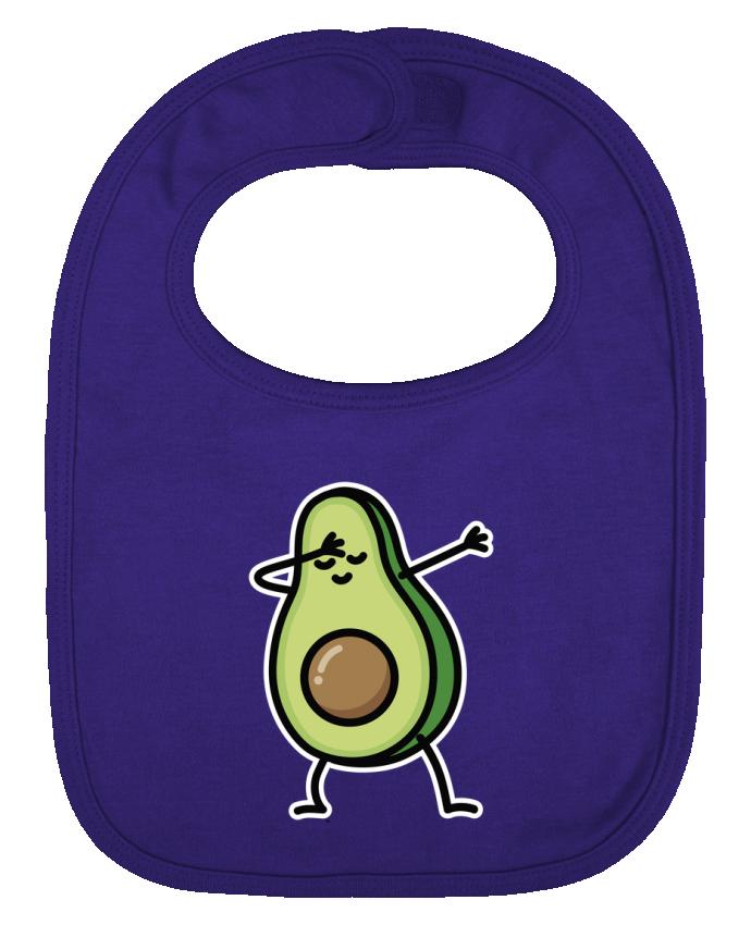 Bavoir bébé uni Avocado dab par LaundryFactory