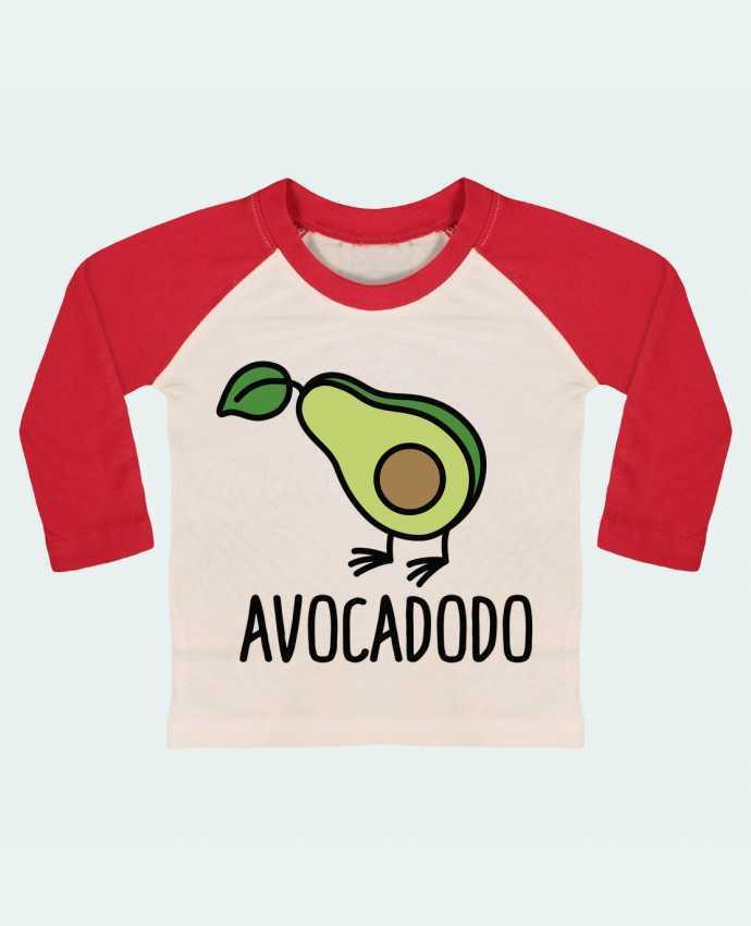 T-shirt Bébé Baseball Manches Longues Avocadodo par LaundryFactory