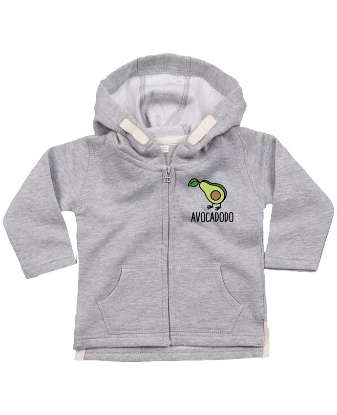 Sweat Bébé Zippé à Capuche Avocadodo par LaundryFactory