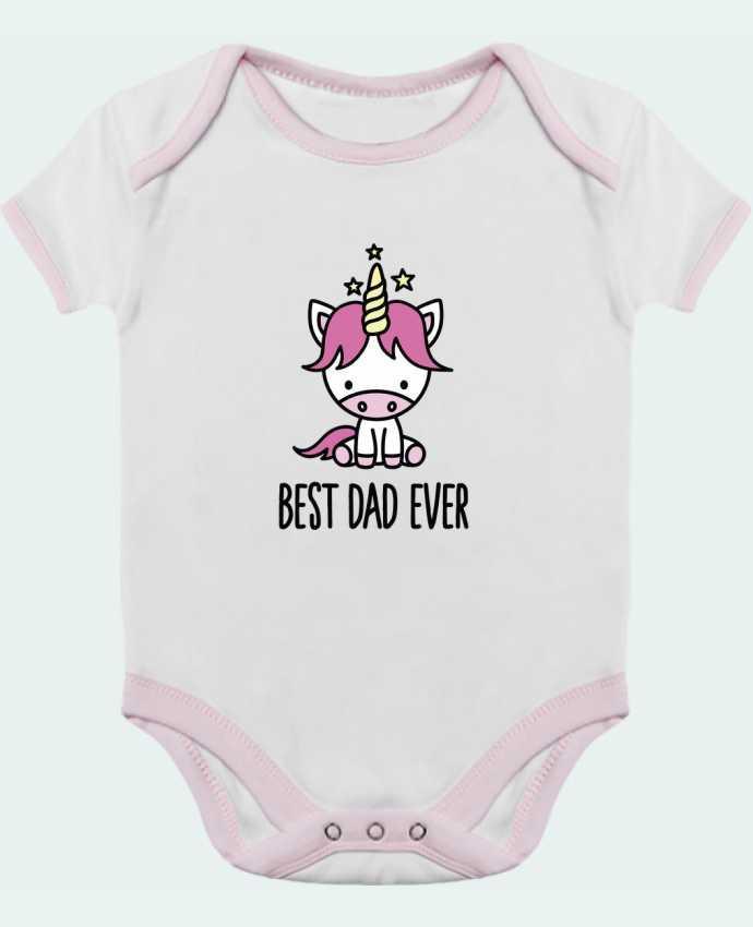 Body Bébé Contrasté Best dad ever par LaundryFactory