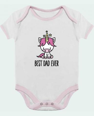 Body Bébé Contrasté Best dad ever par LaundryFactory