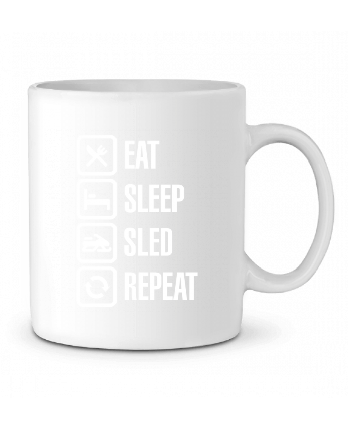Mug en Céramique Eat, sleep, sled, repeat par LaundryFactory