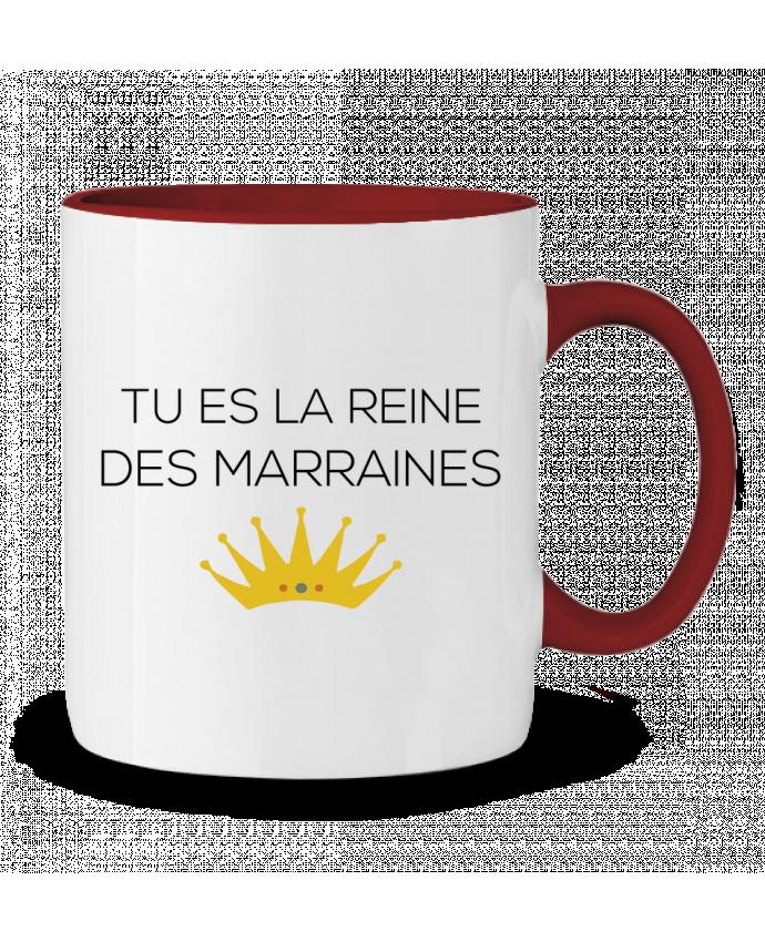 Mug en Céramique Bicolore Tu es la reine des marraines tunetoo