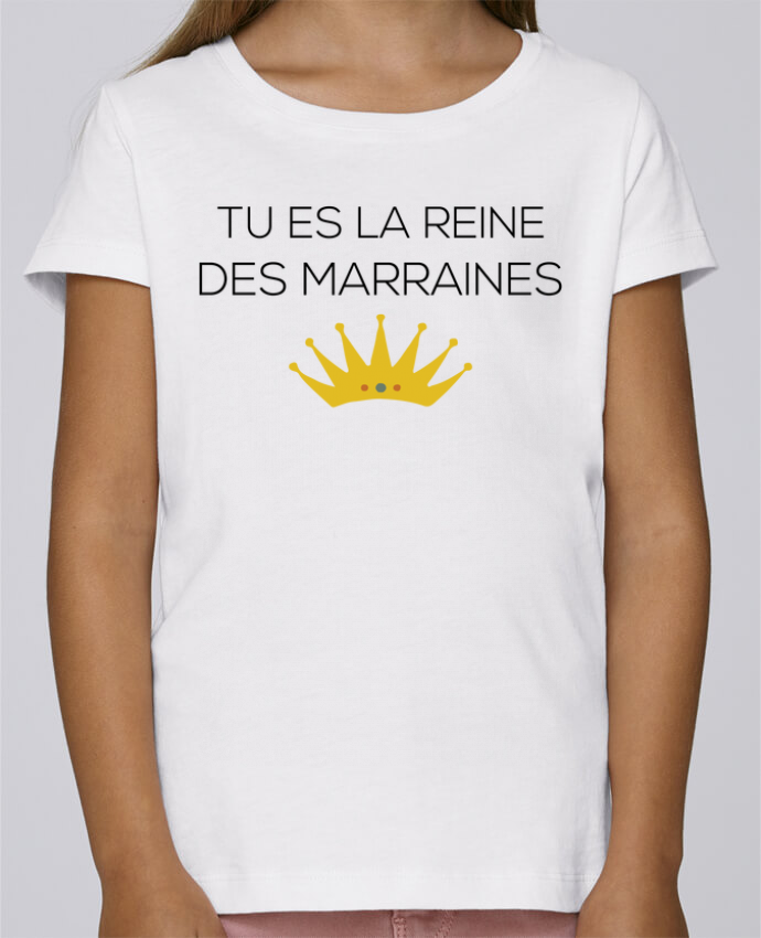 T-shirt Fille Mini Stella Draws Tu es la reine des marraines par tunetoo