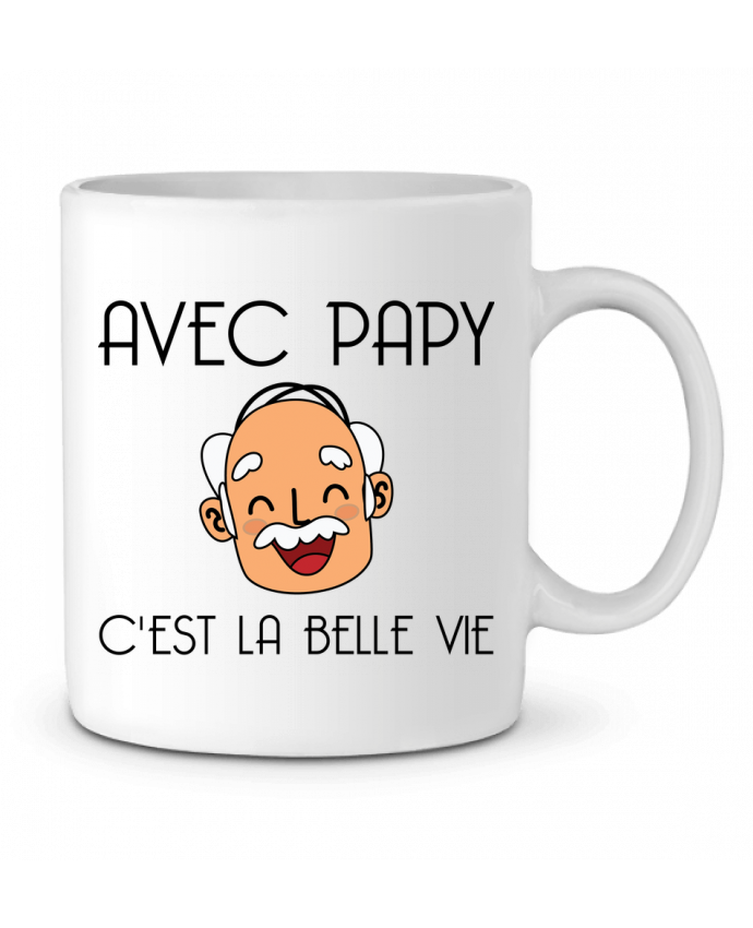 Mug en Céramique Avec papy c'est la belle vie ! par tunetoo