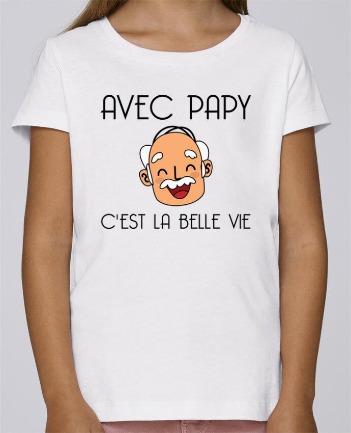 T-shirt Fille Mini Stella Draws Avec papy c'est la belle vie ! par tunetoo
