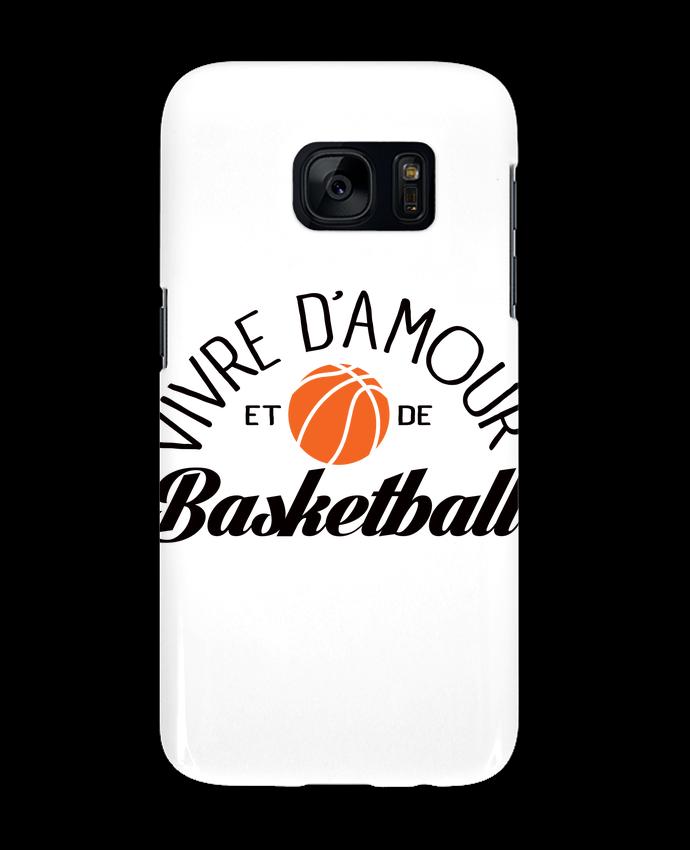 Coque 3D Samsung Galaxy S7 Vivre d'Amour et de Basketball par Freeyourshirt.com