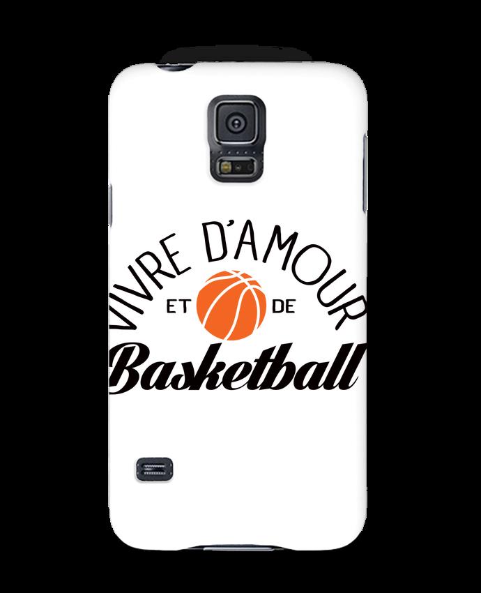 Coque 3D Samsung Galaxy S5 Vivre d'Amour et de Basketball par Freeyourshirt.com