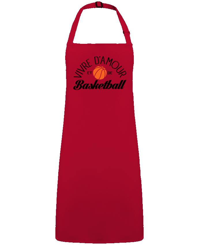 Tablier Sans Poche Vivre d'Amour et de Basketball par  Freeyourshirt.com