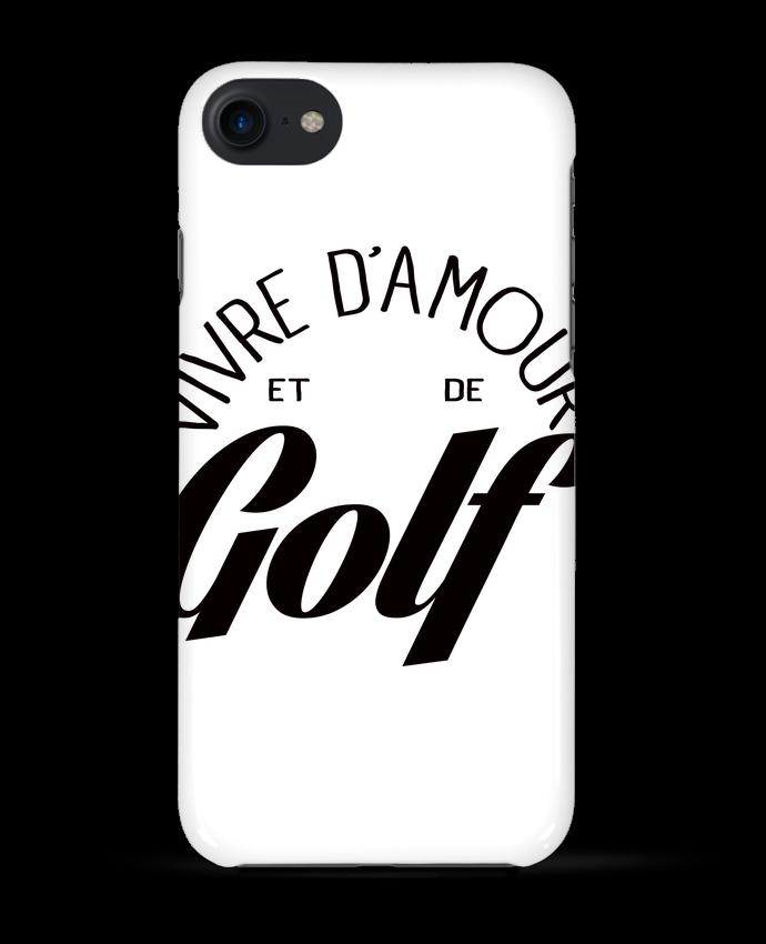 Coque 3D Iphone 7 Vivre d'Amour et de Golf de Freeyourshirt.com