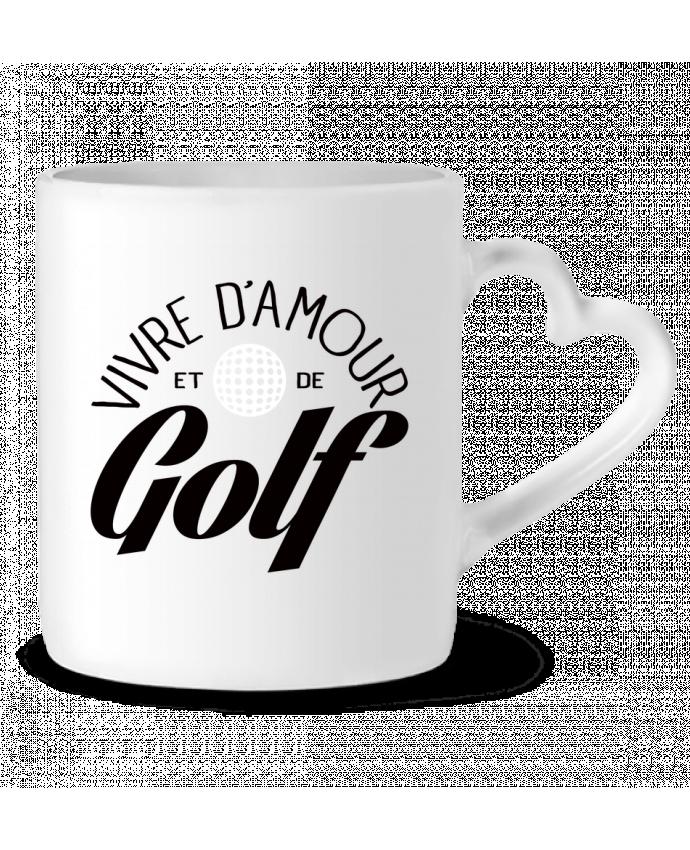 Mug Coeur Vivre d'Amour et de Golf par Freeyourshirt.com