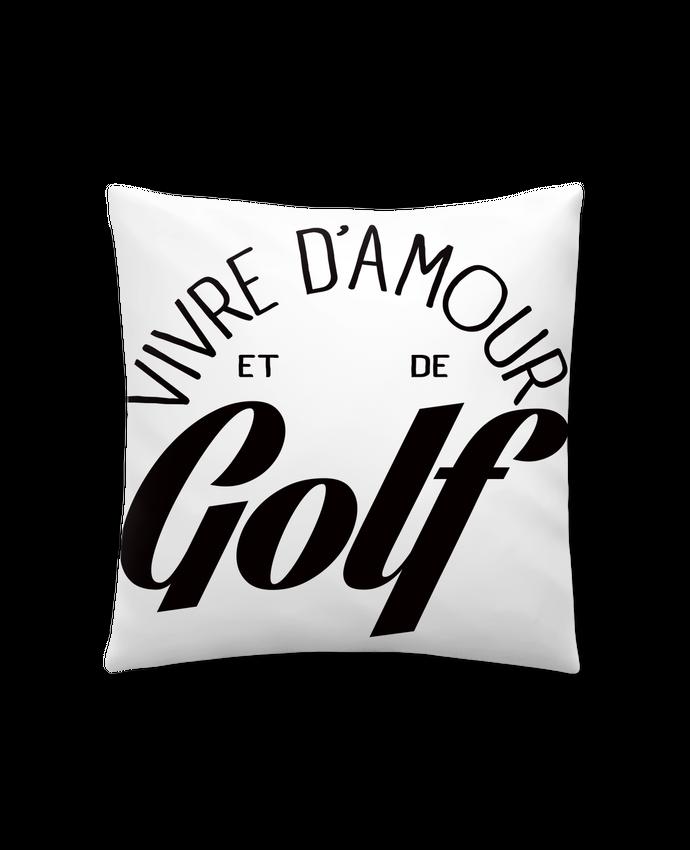 Coussin Synthétique Doux 41 x 41 cm Vivre d'Amour et de Golf par Freeyourshirt.com