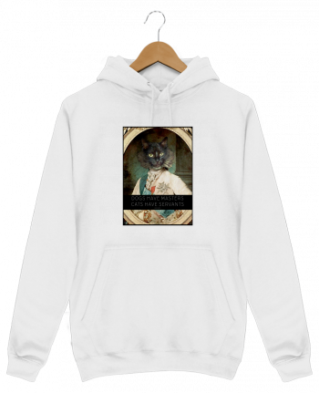 Sweat Shirt à Capuche Homme King Cat par Tchernobayle