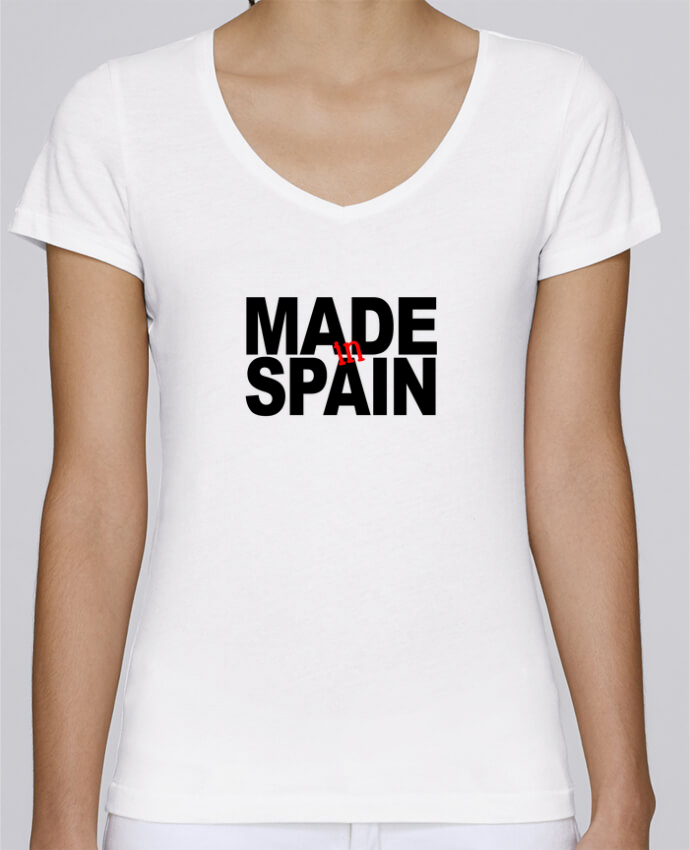 T-shirt Femme Col V Stella Chooses MADE IN SPAIN par datant