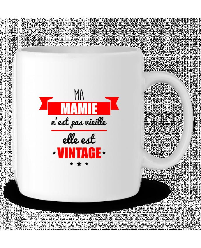 Mug en Céramique Ma mamie n'est pas vieille elle est vintage par Benichan