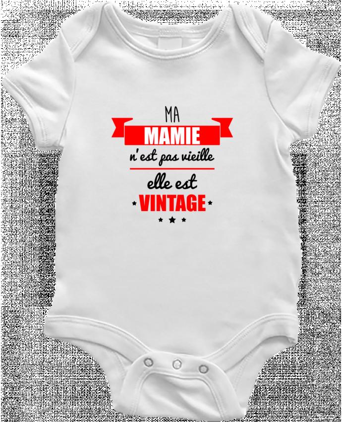 Body Bébé Ma mamie n'est pas vieille elle est vintage par Benichan