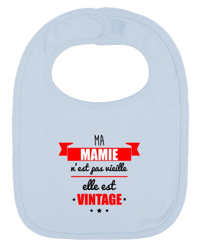 Bavoir Uni et Contrasté Ma mamie n'est pas vieille elle est vintage par Benichan