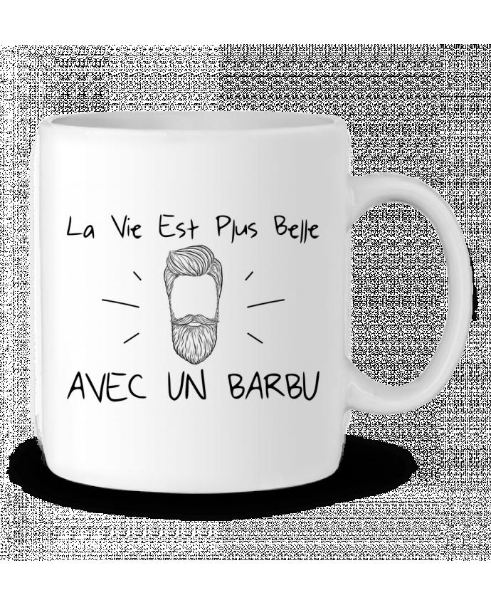 Mug en Céramique La vie est plus belle avec un barbu par tunetoo