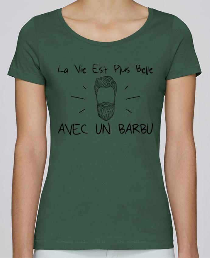 T-shirt Femme Stella Loves La vie est plus belle avec un barbu par tunetoo