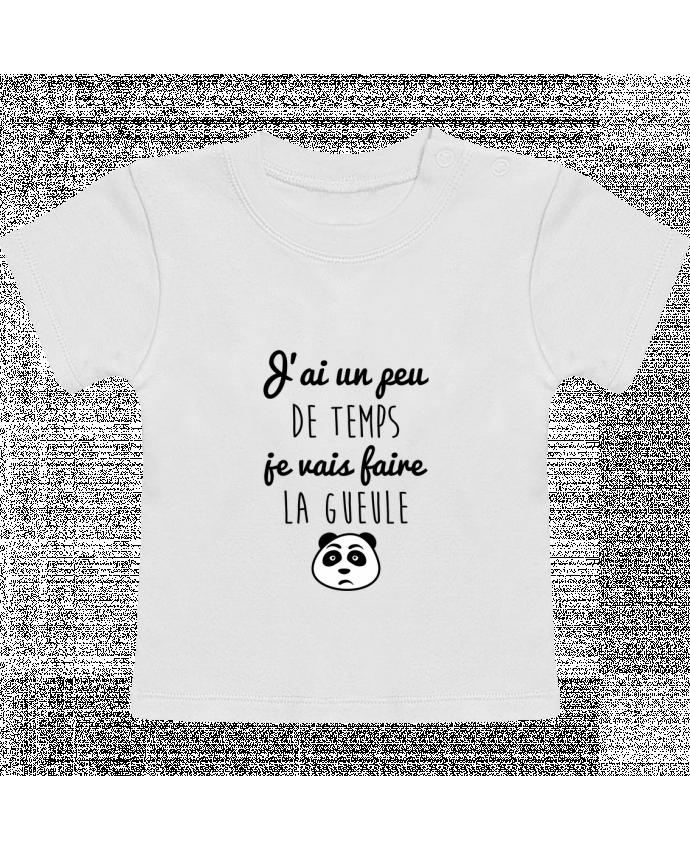T-Shirt Bébé Manches Courtes J'ai un peu de temps je vais faire la gueule manches courtes du designer Benichan