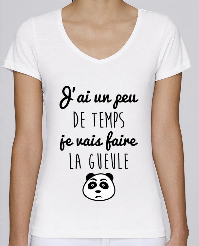 T-shirt Femme Col V Stella Chooses J'ai un peu de temps je vais faire la gueule par Benichan