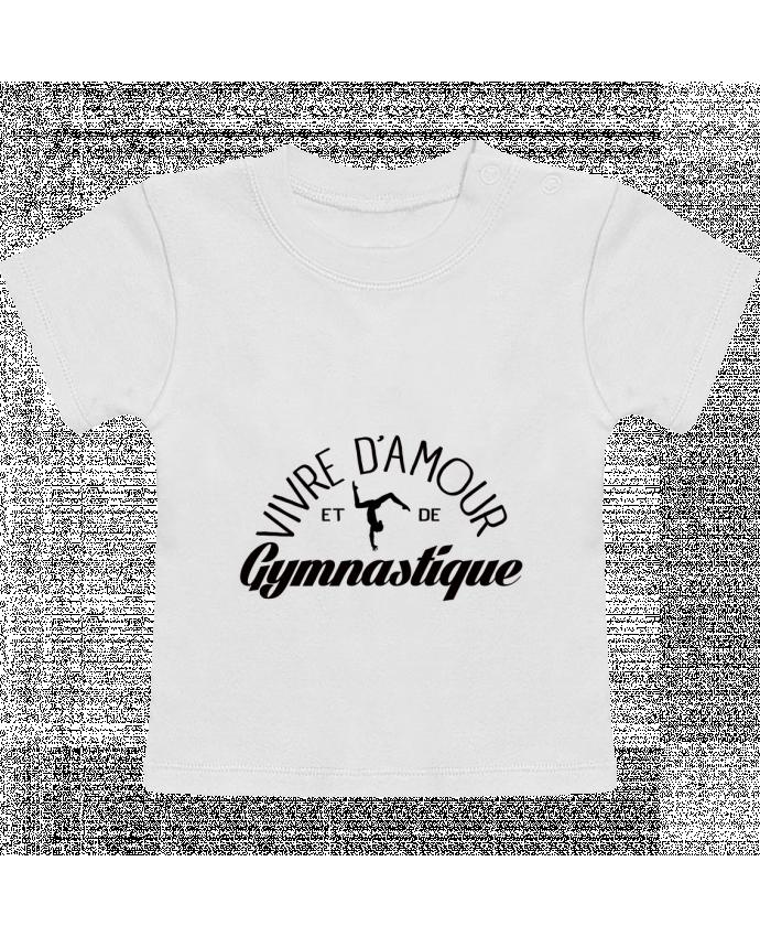 T-Shirt Bébé Manches Courtes Vivre d'amour et de Gymnastique manches courtes du designer Freeyourshirt.com
