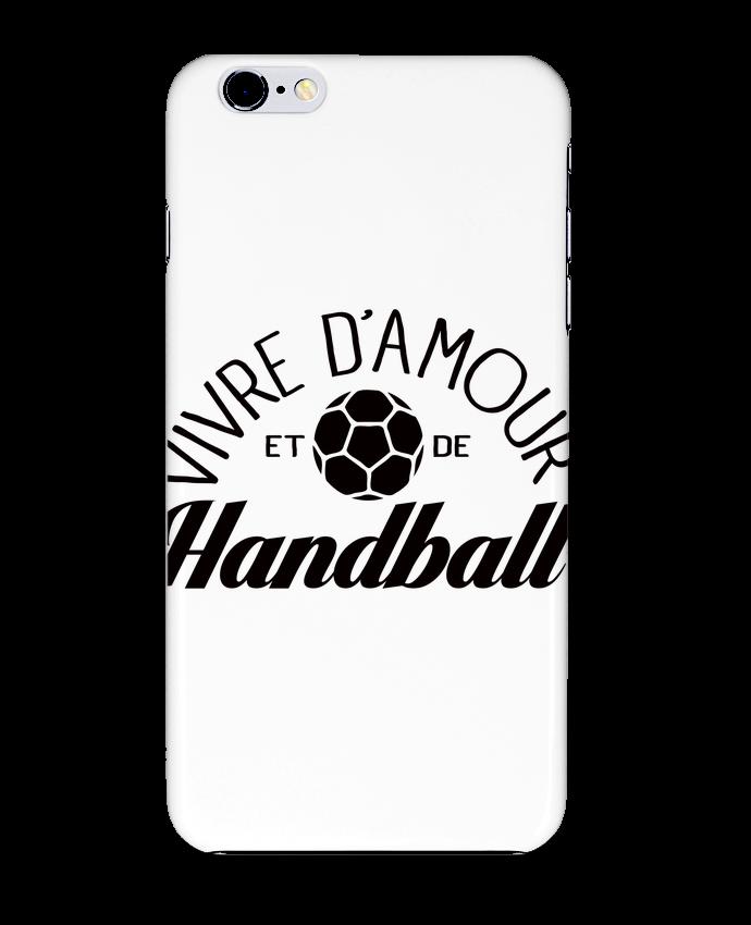 2622572 coque 3d iphone 6 plus blanc vivre d amour et de handball by freeyourshirt com