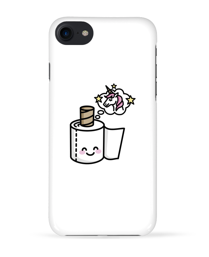 Coque 3D Iphone 7 Unicorn Toilet Paper de LaundryFactory