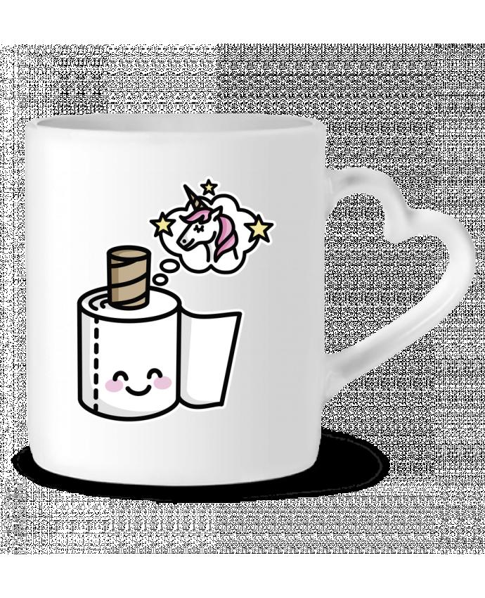 Mug Coeur Unicorn Toilet Paper par LaundryFactory