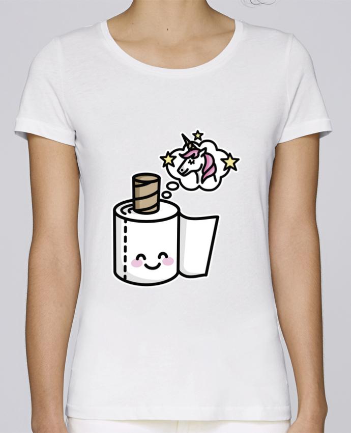 T-shirt Femme Stella Loves Unicorn Toilet Paper par LaundryFactory