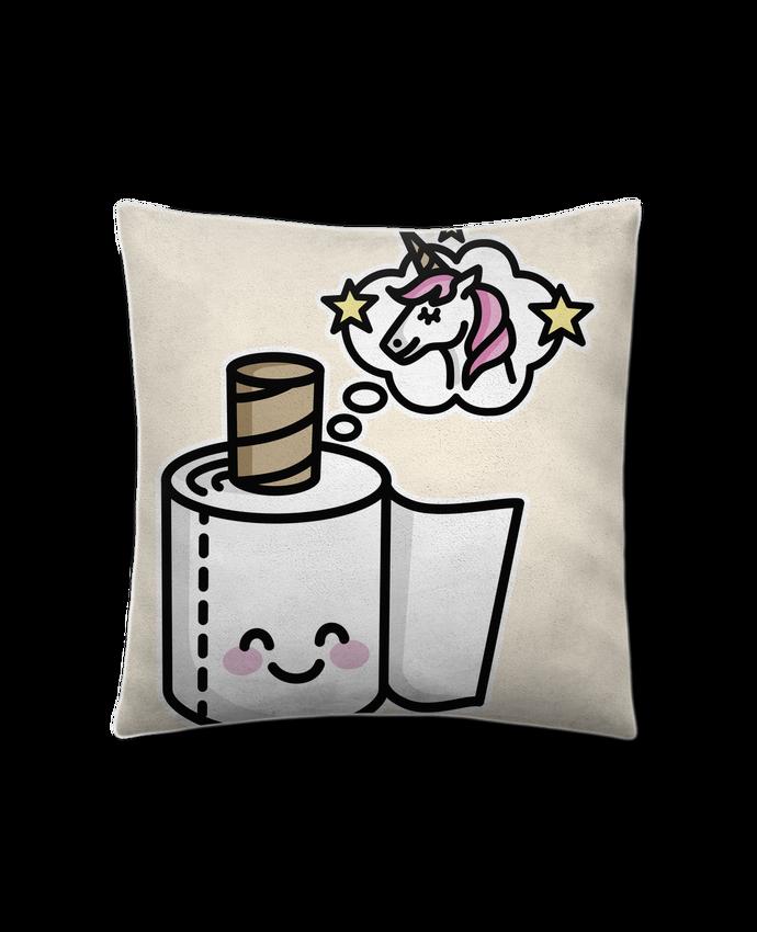Coussin Toucher Peau de Pêche 41 x 41 cm Unicorn Toilet Paper par LaundryFactory