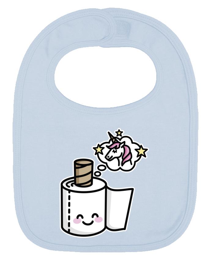 Bavoir Uni et Contrasté Unicorn Toilet Paper par LaundryFactory