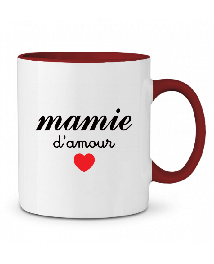 Mug en Céramique Bicolore Mamie D'amour Freeyourshirt.com