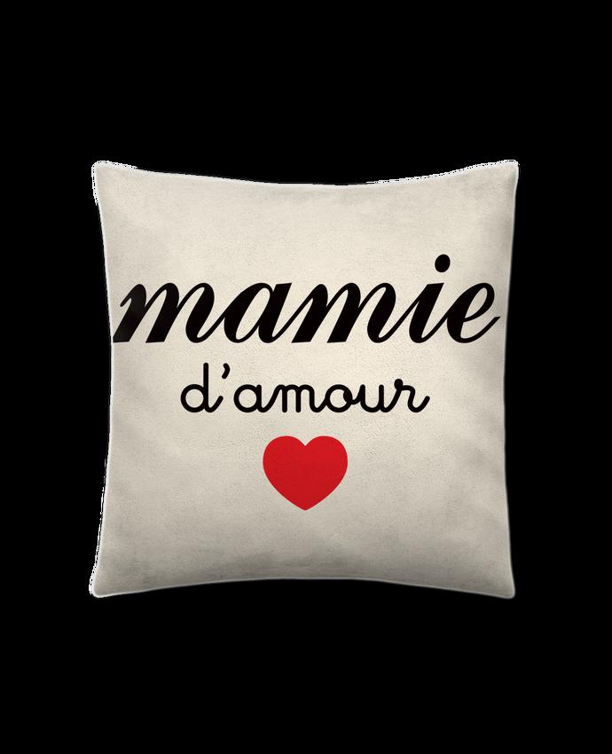 Coussin Toucher Peau de Pêche 41 x 41 cm Mamie D'amour par Freeyourshirt.com