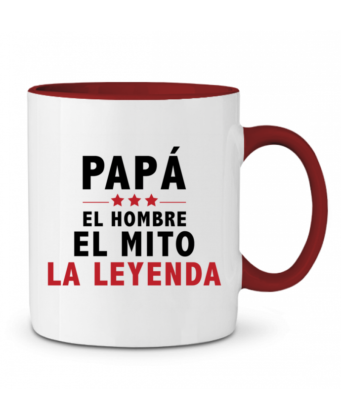 Mug en Céramique Bicolore PAPÁ : EL HOMBRE EL MITO LA LEYENDA tunetoo