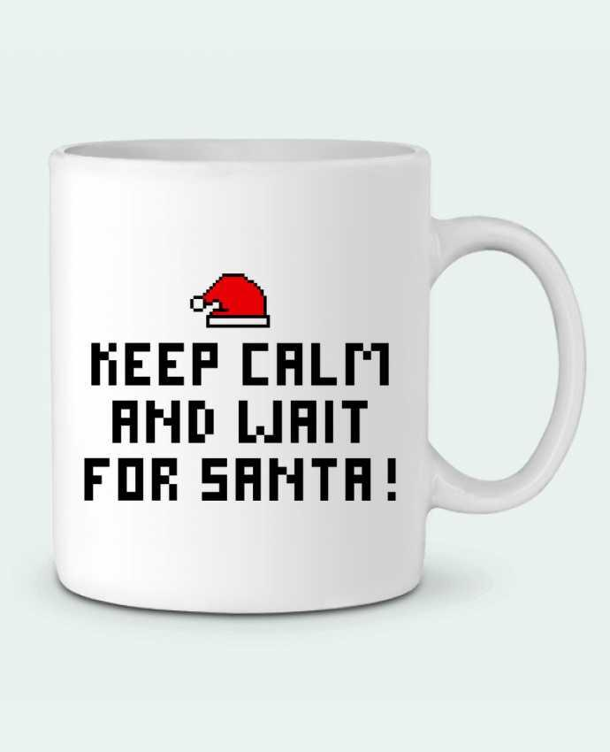 Mug en Céramique Keep calm and wait for Santa ! par tunetoo