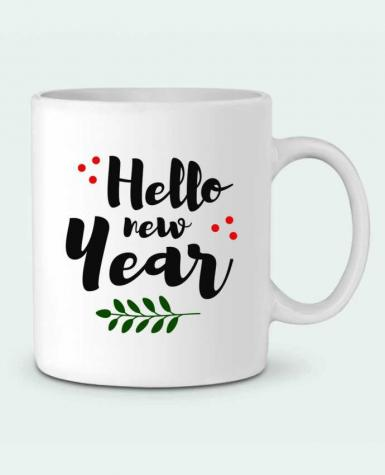 Mug en Céramique Hello New Year par tunetoo