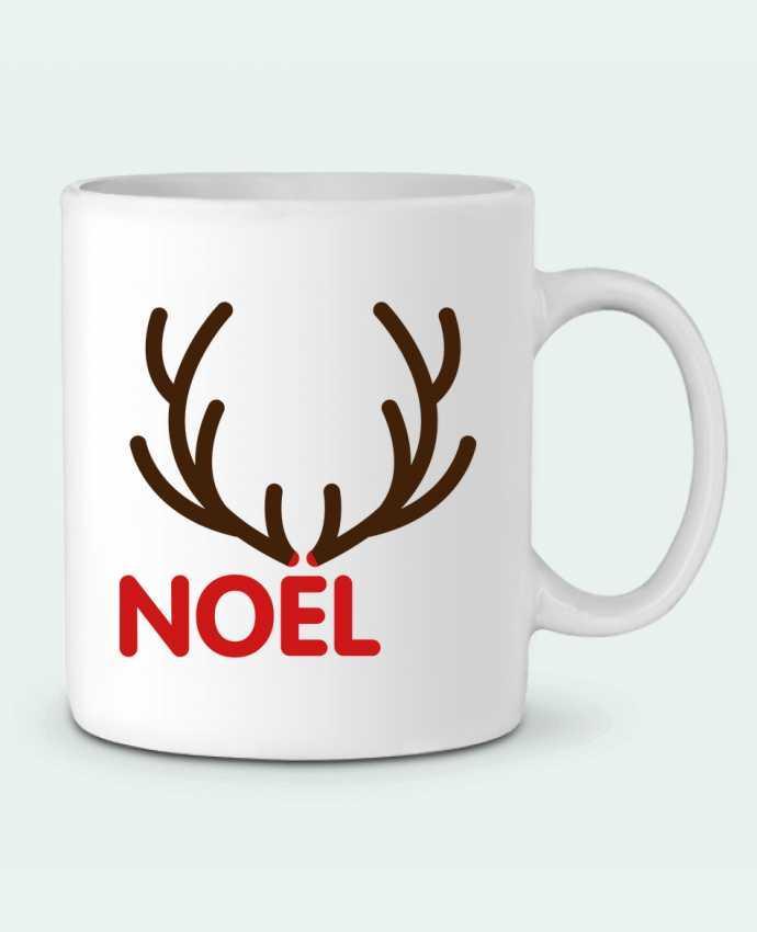 Mug en Céramique Noël avec bois de renne par tunetoo