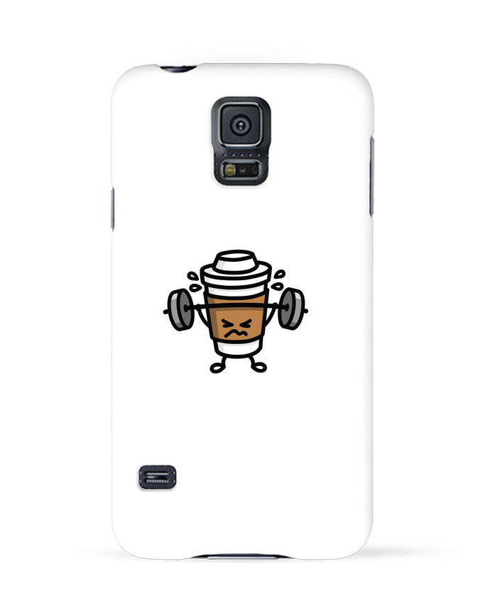 Coque 3D Samsung Galaxy S5 STRONG COFFEE SMALL par LaundryFactory