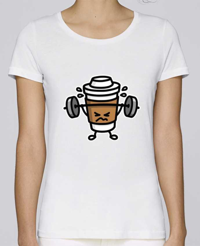 T-shirt Femme Stella Loves STRONG COFFEE SMALL par LaundryFactory