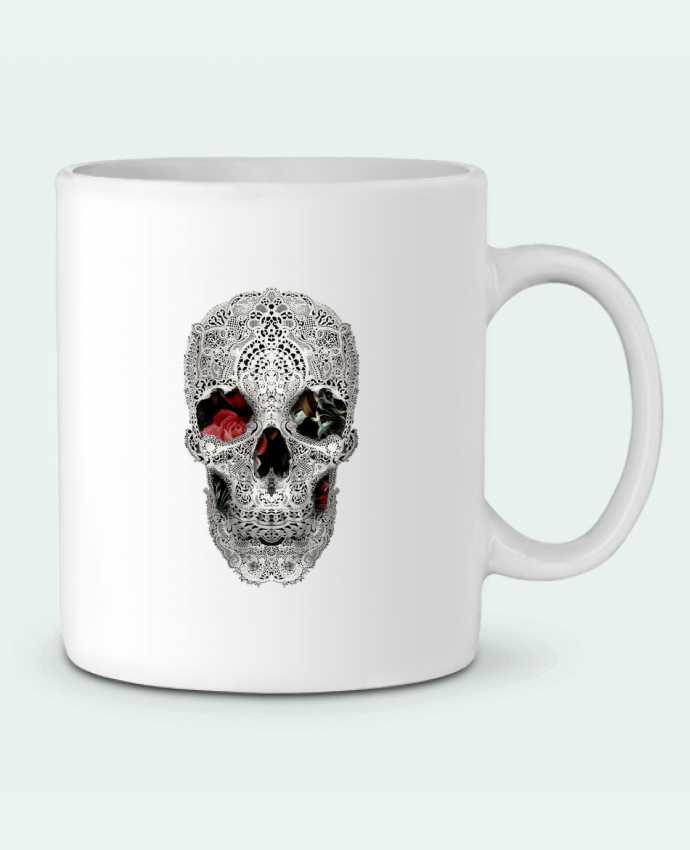 Mug en Céramique Lace skull 2 light par ali_gulec
