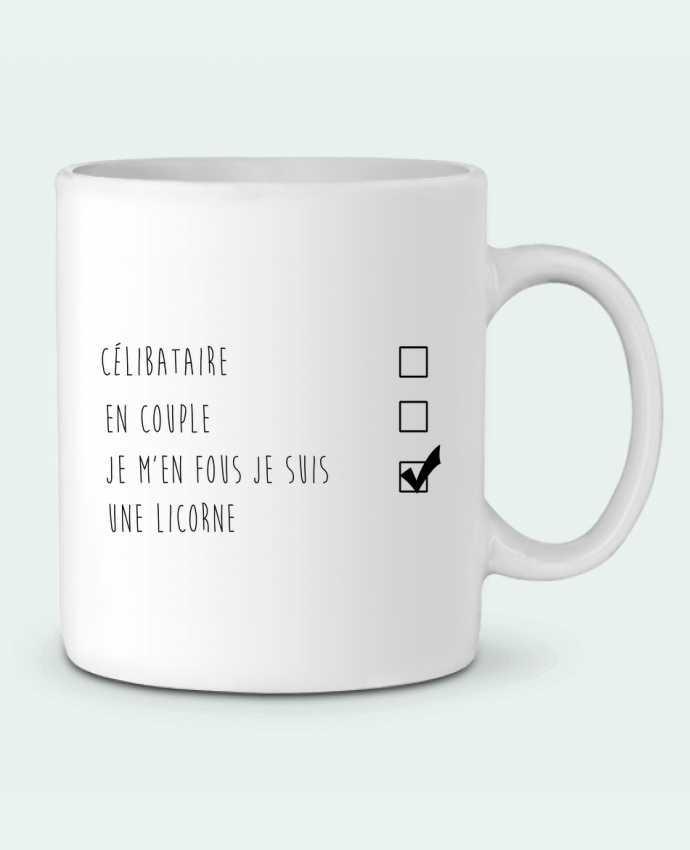 Mug en Céramique je m'en fou je suis une licorne par DesignMe