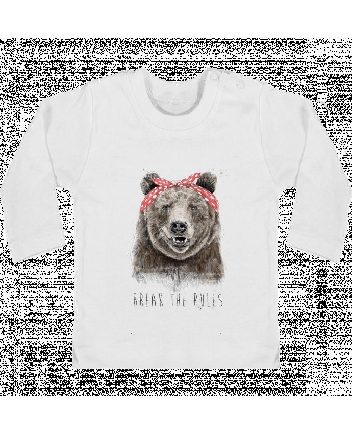 T-shirt Bébé Manches Longues Boutons Pression Break the rules II manches longues du designer Balàzs Solti