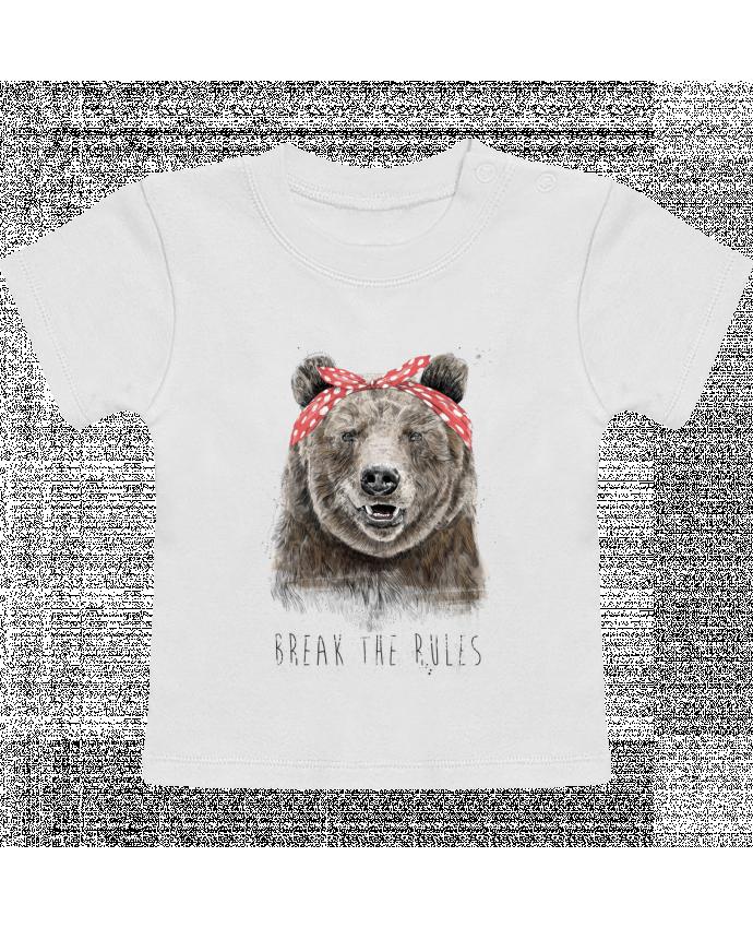 T-Shirt Bébé Manches Courtes Break the rules II manches courtes du designer Balàzs Solti