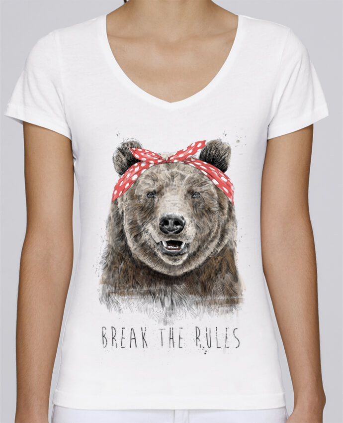 T-shirt Femme Col V Stella Chooses Break the rules II par Balàzs Solti