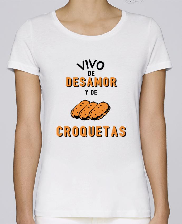 T-shirt Femme Stella Loves Vivo de desamor y de croquetas par tunetoo