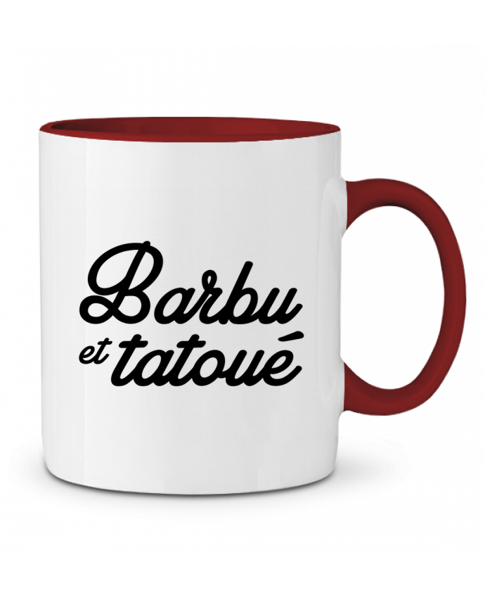 Mug en Céramique Bicolore Barbu et tatoué Nana