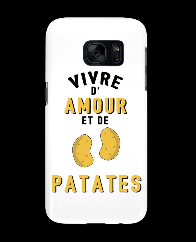 Coque 3D Samsung Galaxy S7 Vivre d'amour et de patates par tunetoo